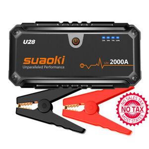 2000A Peak Jump Starter Pack (for ALL Gas Or 8.0L Diesel Engines) With USB Power