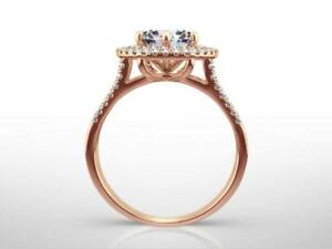 CLASSIC DESIGN H VS2 2.25 CT  ROUND SHAPE DIAMOND 14 KARAT ROSE RED GOLD RING