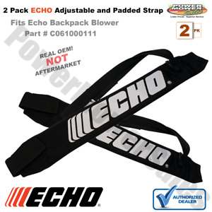 C061000111 C061000110 Echo Backpack Blower Adjustable Padded Straps Harness 2 PK
