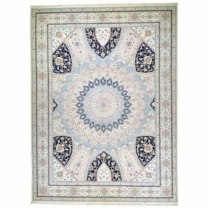 Barkat Rugs Wool Silk Gumbad Design Handmade (Size 9.0 X 12.1) Brral-5640