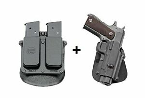 Fobus retention Holster + Double magazine pouch 1911 no rail Colt  Kimber  FN