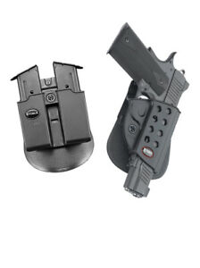 Fobus retention Holster + Double magazine pouch for coltspringfield 1911 w rail