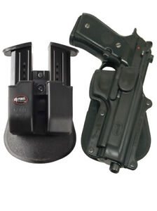 Fobus Holster + Double magazine mag pouch beretta 92f  96 without rail