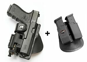 Fobus tactical Holster + Double magazine pouch glock 19 23 32  walther p99