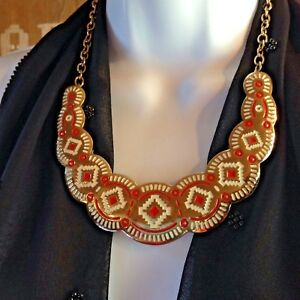 BOLD BIB Necklace SOUTH-WESTERN Statement 18