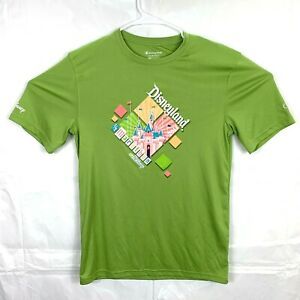 Champion Mens Size S Double Dry Disney Event Running Shirt Marathon Lime Green $10.50