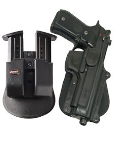 Fobus retention holster + double magazine pouch for beretta 92f 96 w_out rail