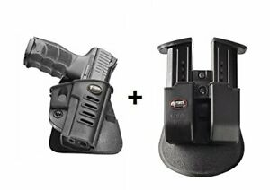 Fobus retention holster + double magazine pouch for walther ppq h