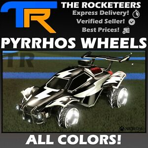 XBOX ONE Rocket League Every Painted PYRRHOS Exotic Wheels Ferocity Crate New $25.49
