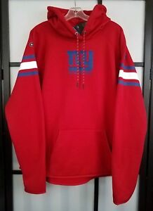 NFL New York Giants Under Armour Red Hoodie Sweatshirt Womens Size 2XL