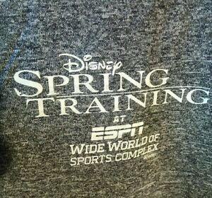 Run Disney ESPN WIDE WORLD OF SPORTS Spring Training Womans Large Champion Shirt