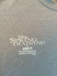 Run Disney ESPN WIDE WORLD OF SPORTS Spring Training Womans Med Champion Shirt