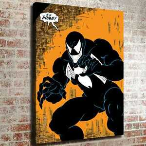 Venom under yellow background HD Canvas prints Painting Home decor Room Wall art $4.99