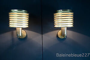 Hans-Agne Jakobsson Markaryd Bronze Sconces set of 2 Scandinavian design 1950
