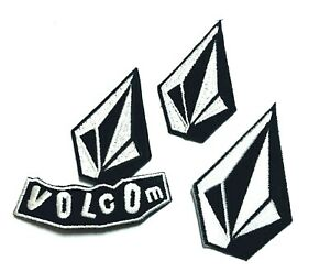 Volcom 3pcs Logo full Embroidery Patch logo ironsewing on Clothes $5.50
