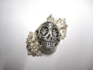 Christian Audigier Sterling SKELETON Pendant 2 14