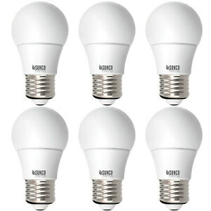 Sunco Lighting 6 Pack A15 Dimmable LED Bulb 8W (=60W) 6000K, Deluxe Daylight