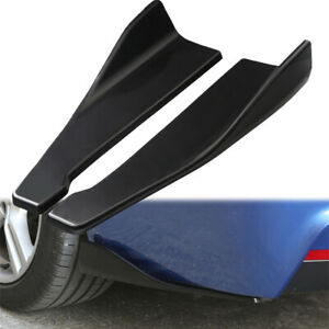2x Car SUV Accessories Bumper Spoiler Rear Lip Angle Splitter Diffuser Protector