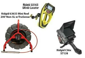 Ridgid 200' Mini Reel (14063) SeekTech SR-60 Locator (22163) CS6x (57138)