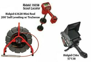 Ridgid 200' Mini Reel (48488) Scout Locator (19238) CS6x (57138)
