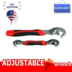 2PC Universal Adjustable Quick Snap and Grip Wrench Multi-function 9-32mm