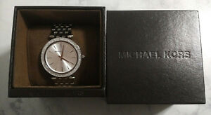 NIB Michael Kors Women's Darci Stainless Steel Bracelet Watch 39mm MK3190 $250