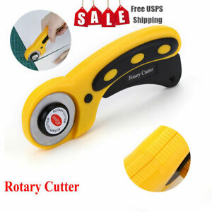 Rotary Cutter With 45mm Blade Sewing Quilters Fabric Leather Cutting Tool Set $7.59