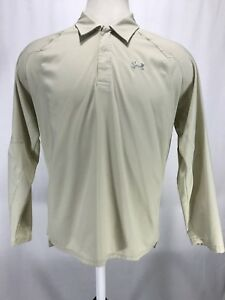 Under Armour Long Sleeve Light Weight Vented Fishing Polo Short Men's Size Large