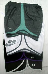 Lot of 4 Women's Small Nike Under Armour Running Yoga Shorts Tempo Rally Escape