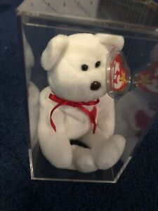 Valentino bear beanie baby TY with errors RARE brown nose etc. MINT Condition