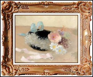 DIETZ EDZARD Original OIL PAINTING on CANVAS Signed Artwork Floral Still Life