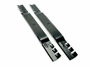 (2) Toothed Mulching Mower Blades for Toro Timecutter SS4216 SS4235 SS4260 42