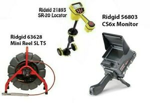 Ridgid 200' Mini Reel (48488) SeekTech SR-20 Locator (21893) CS6x (57138)