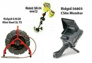 Ridgid 200' Mini Reel (48488) SeekTech SR-24 Locator (44473) CS6x (57138)