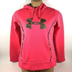 Under Armour Cold Gear Storm 1 Hoodie Loose Pink Realtree Camo Women's Small S