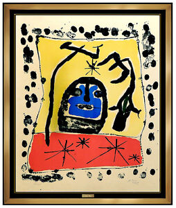 Joan Miro Original Color Lithograph Hand Signed Abstract Modern Illustration Art