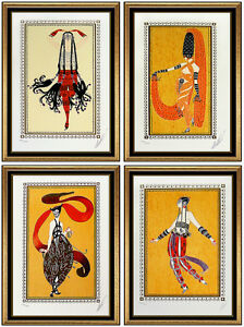 Erte Scheherezade Suite Original Fashion Costume Design Serigraph Hand Signed