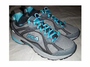 NEW Women's Gray & Turquoise FILA WINDSHIFT 15 Shoes FREE SHIPPING