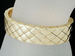 Chanel Matrasse Bracelet 750YG Yellow Gold XS 5.70inch Rare Design Ex++