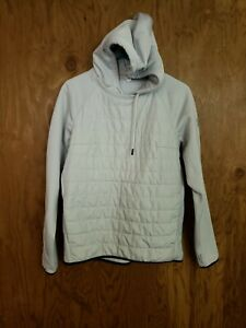 Under Armour Womens UA ColdGear Fitted Poly Fill Pullover Hooded Grey Jacket S $29.95