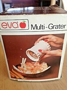 Eva Multi-Grater Stainless Steel Blade Food Grater Cheese Spice Grinder Free S/H