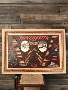 Vintage Winchester Bullet Board Advertising Sign