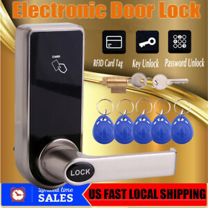 Electronic Digital Smart Password Door Lock Keypad Touch Screen With 5 RFID Card