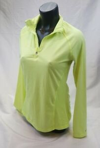 CHAMPION C9 Woman's Jacket Shirt Neon Yellow Zip Compression Long Sleeve S Small