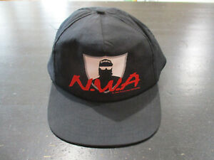 VINTAGE NWA Snap Back Hat Cap Black Red Ruthless Records Rap Tee Hip Hop 90s