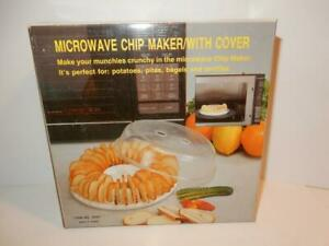 VINTAGE COOKWARE MICROWAVE CHIP MAKER POTATO CRISPER WITH LID MIB IN BOX