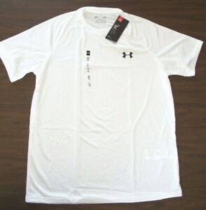 Under Armour Mens Tech Short Sleeve T Shirt 1228539 White Sm 4XL $19.99