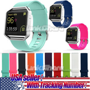 US For Fitbit Blaze Watch Replaces Silicone Rubber Band Sport Watch Band Strap x