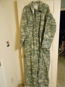 NEW LARGE MILITARY ISSUE MECHANICS COVERALLS UNIVERSAL CAMOUFLAGE TYPE III ACU