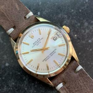 ROLEX Men's Oyster Date ref.1550 Gold-Capped Automatic c.1973 Swiss LV713brn